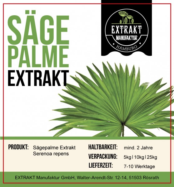 Label_Extrakt Manufaktur_Bulkware_Sägepalme