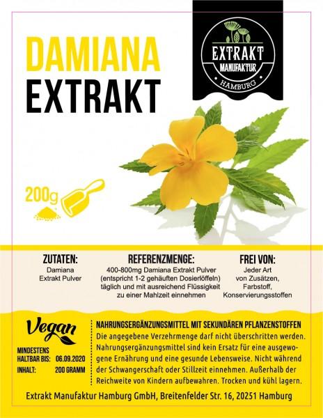 Label_Extrakt Manufaktur_Damiana (Pulver)_200g