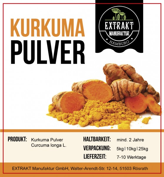 Label_Extrakt Manufaktur_Bulkware_Kurkuma PULVER