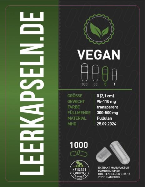Leerkapseln | Pullulan | vegan & getrennt (Größe 0)
