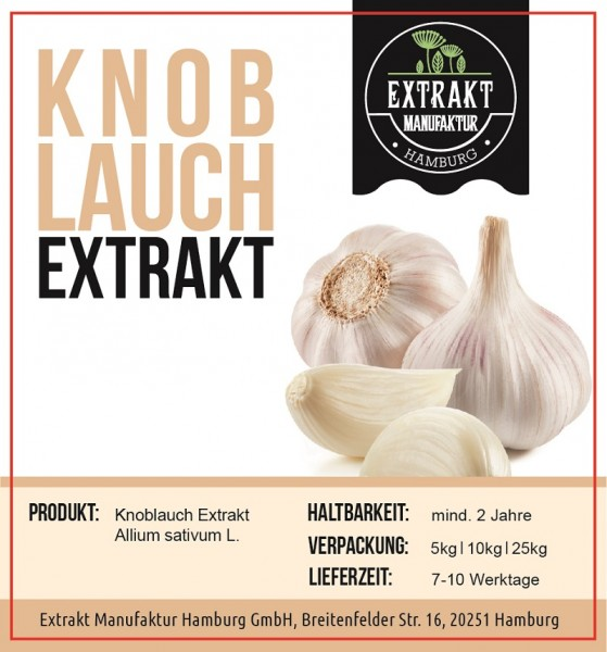 Label_Extrakt Manufaktur_Bulkware_Knoblauch