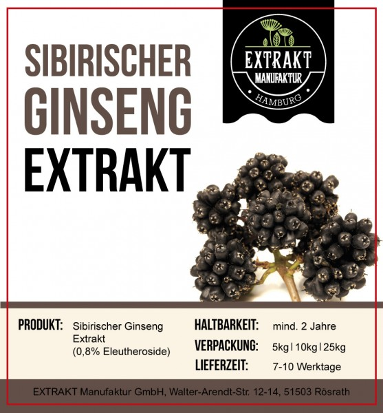 Label_Extrakt Manufaktur_Bulkware_Sibrischer Ginseng